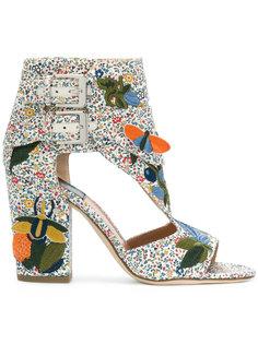 босоножки на каблуках с вышивкой  Laurence Dacade