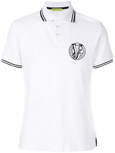 рубашка-поло с вышитым логотипом Versace Jeans