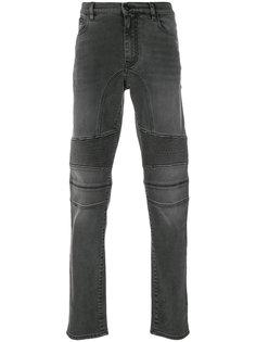 байкерские джинсы с рваной отделкой Belstaff