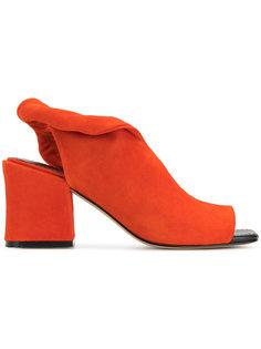 босоножки на наборном каблуке Sigerson Morrison