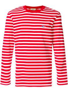 футболка в полоску с длинными рукавами  Maison Kitsuné