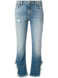frayed edge cropped jeans  J Brand