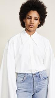 A.W.A.K.E. White Kimono Sleeve Shirt Awake