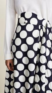 A.W.A.K.E. Giant Polka Dot Skirt with Pleats Awake