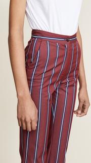 Stella Jean Straight Leg Striped Pants