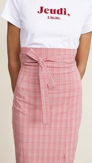 Stella Jean Striped Waist Tie Midi Skirt
