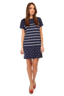 Платье женское Fred Perry Polka Dot And Stripe Jerey Drs Blue