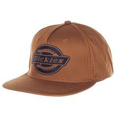 Бейсболка с прямым козырьком Dickies Oakland Brown Duck