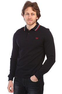 Поло Fred Perry Twin Tipped Shirt Dark Navy