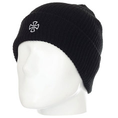 Шапка Independent Cross Ribbed Beanie Black