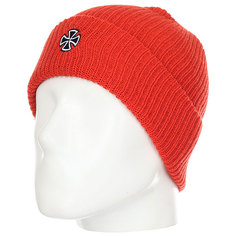 Шапка Independent Cross Ribbed Beanie Tomato