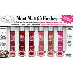 THE BALM Набор из 6 оттенков мини жидких матовых помад Meet Matt(e) Hughes 12 мл