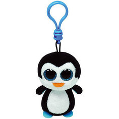 Мягкая игрушка-брелок Ty Inc Beanie Boos Пингвин Waddles, 8 см