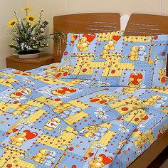 """Голубой комплект """"Барни"""" 1,5-спальный (наволочка 50х70см), Letto"""