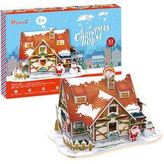 Рождественский домик 1, с подсветкой, CubicFun