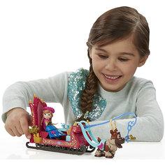 Игровой набор Маленькие куклы Анна, Свен и сани,  Холодное сердце Hasbro