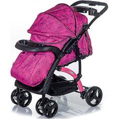 Прогулочная коляска BabyHit FLORA, сиреневый/серый