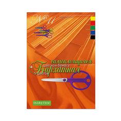 Набор цветной бумаги № 11 Альт А4, 5 листов (бархатная, самоклеющаяся)