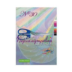 Набор цветной бумаги № 30 Альт А4, 9 листов (перламутровая)