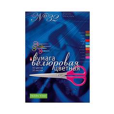 Набор цветной бумаги № 32 Альт А4, 10 листов (велюровая)