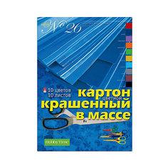 Набор цветного картона № 26 Альт А4, 10 листов (крашенный в массе)