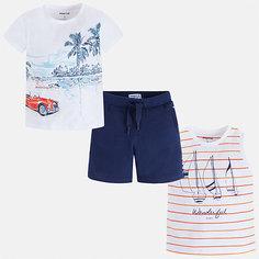 Комплект:майка,футболка,шорты Mayoral для мальчика