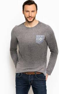 Хлопковая серая футболка с карманом Lerros