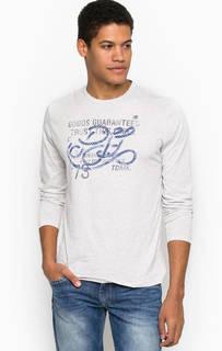 Хлопковая футболка с длинными рукавами Pepe Jeans