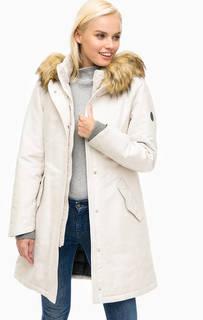 Длинная зимняя куртка с меховой отделкой Marc Opolo