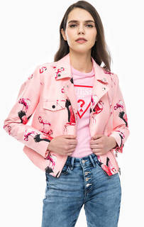 Розовая куртка косуха Guess