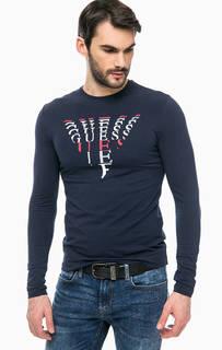 Хлопковая футболка с длинными рукавами Guess