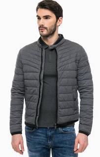 Стеганая демисезонная куртка на молнии Guess
