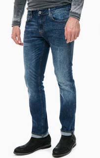 Синие джинсы скинни с низкой посадкой Guess