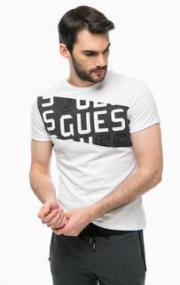 Хлопковая футболка с круглым вырезом Guess