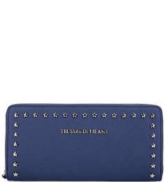 Синий кошелек на молнии Trussardi Jeans