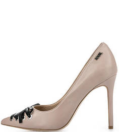 Кожаные туфли с декоративной шнуровкой Karl Lagerfeld