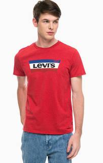 Хлопковая футболка с короткими рукавами Levis®