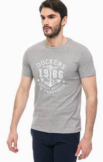Хлопковая футболка с круглым вырезом Dockers