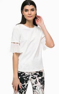 Однотонная футболка с отделкой бусинами Liu Jo