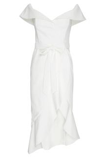 Асимметричное платье с открытыми плечами Alice + Olivia