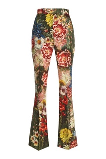 Брюки с цветочным принтом Gucci