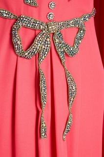 Драпированное платье-макси с бантами Gucci