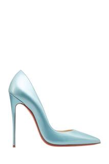 Голубые лакированные туфли So Kate 120 Christian Louboutin