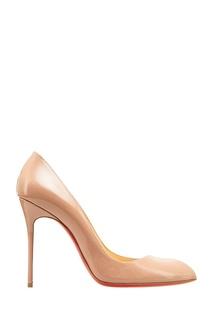 Бежевые лакированные туфли Corneille 100 Christian Louboutin