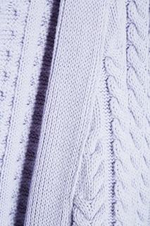 Фиолетовый кардиган с косами 7КА