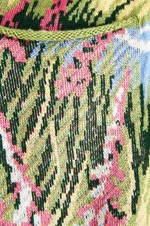 Шерстяной кардиган с цветами 7КА
