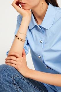 Золотистый браслет с черным ониксом Exclaim