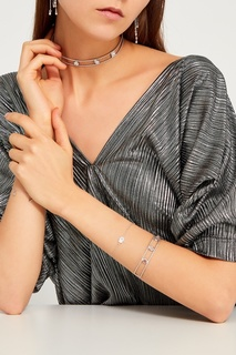 Серебряный браслет с розовым кварцем Exclaim