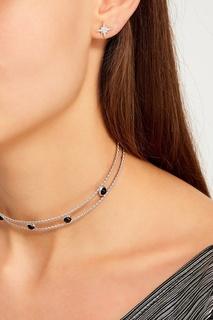 Серебряные серьги с кристаллами Exclaim