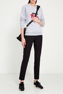 Серый свитшот с вышивкой Girls In Bloom